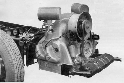 tatra t600 tatraplan tatra t600 tatraplan engine flat four cylinder boxer ohv petrol four stroke at rear bore 85 mm stroke 86 mm capacity 1952 cc power output 52 bhp